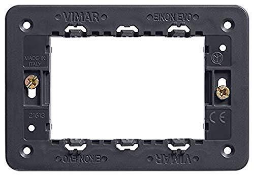 Vimar 21613 Supporto 3 Moduli, Grigio