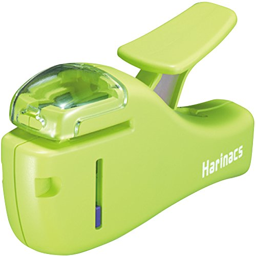 Kokuyo Harinacs Japanese Stapleless Stapler (Compact) Light Green by Home Office