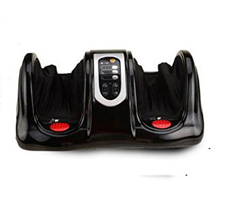 Best Bargain Foot Massager Electric Foot Leg Massager Shiatsu Deep Kneading with Heating Function Remote Control (Black)