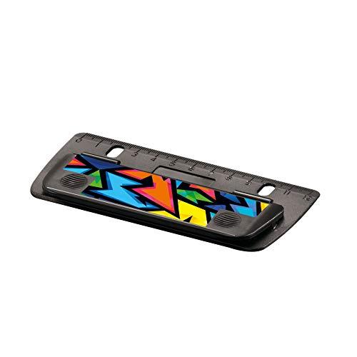 Herlitz 50027408 Mini-Taschenlocher Neon Art, 1 Stück zum Einheften und für unterwegs