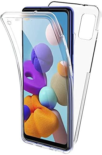 Funda 360º para movil Xiaomi Mi 10T/Mi 10T Pro Silicona Transparente - Carcasa Resistente Full Body (Xiaomi Mi 10T/Mi 10T Pro, Transparente)