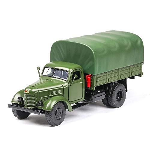 DBXMFZW 1/32 Simulation Simulation Jiefang Ca10 Militare Camion Modello in Lega di Zinco in Lega di Zinco Veicolo Militare con Suono e Portello di Apertura della Luce Regali Adulti per Bambini di età