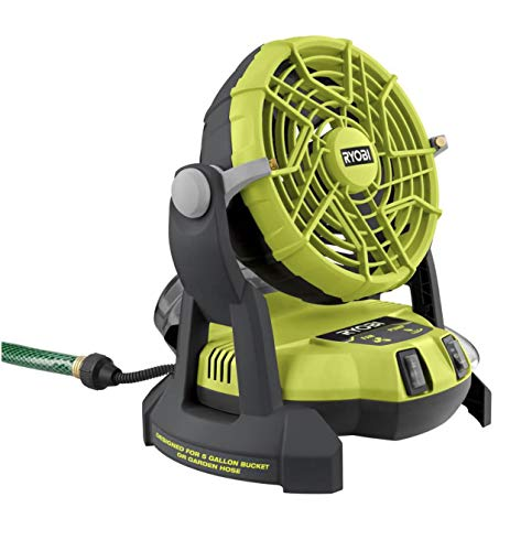 RYOBI 18-Volt ONE 2-Speed Bucket Top Misting Fan (Tool Only)