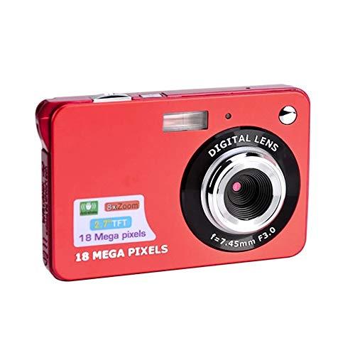 JY Digitalkamera, 2,7-Zoll-18MP LCD Wiederaufladbare Kompaktkameras, Pocket-Kamera Für Kinder, Anfänger, Erwachsene,Rot