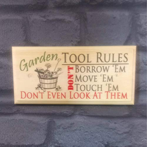 Garden Tool Rules Sign, Garden Shed Plaque, Funny Tool Rules Plaque, Grandads Garden Shed Sign