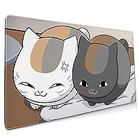 夏目友人帳 猫咪老师・斑(64) マウスパッド ゲーミング キーボードパッド 大型 耐久性が良い 光学マウス対応 防水 人気 オフィス 洗える Natsume'S Book Of Friends 40 Cm × 90 Cm × 0.3 Cm