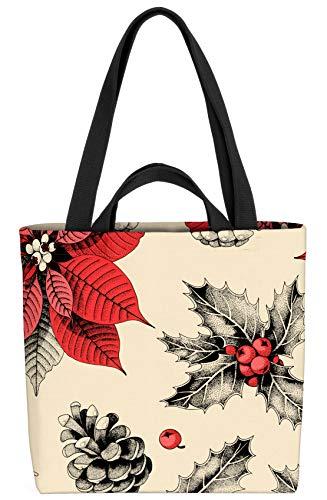 VOID Adventsstjärna julstjärna väska 33 x 33 x 14 cm, 15 l shoppingväska shoppingväska väska