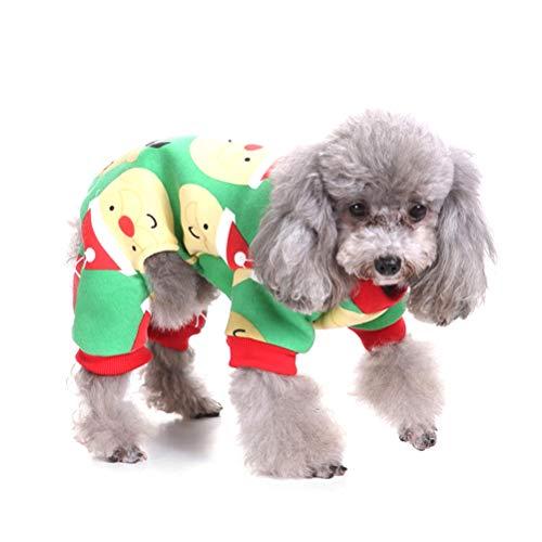 TTBD Weihnachten Haustier Kleidung, Hund Weihnachten Jumpsuit Sankt-Katze-Mantel-Ren-Schneeflocke-Haustier-Kleid Für Cosplay Feiertags-Party Weihnachten,B,XL