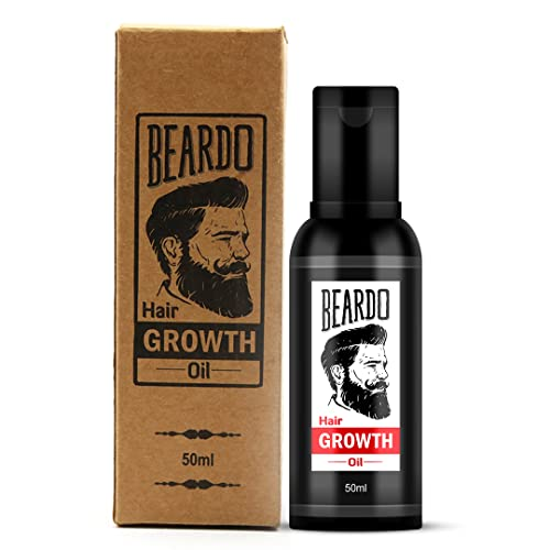 Beardo Beard and Hair Growth Oil - 50 ml for faster beard growth and thicker looking beard | Natural Actives Only | No Harmful Chemicals | Beard Oil for Patchy and Uneven Beard | Clinically Tested | Non Sticky