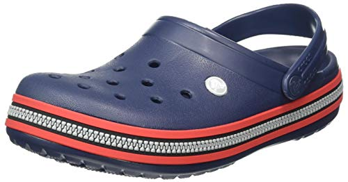 Crocs Unisex-Erwachsene Crocband Zipper Band Clog Clogs, Navy/Scarlet, 43/44 EU
