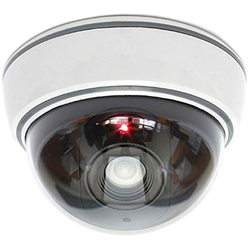 Cámara falsa con objetivo de videovigilancia, cámara de seguridad falsa con luz LED roja,...