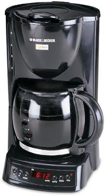 black & decker dcm1400b Cafe noir 10-cup programable cafetera, negro