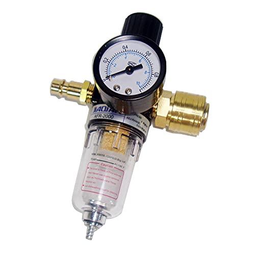 testyu Regolatore di aria 1/4, Riduttore di Pressione dell'aria Compressa, Riduttore Pressione Compressore per Compressore e Utensili Aria