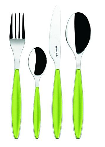 Fratelli Guzzini Feeling, Besteckset 24-teiliges, ABS SAN Stainless steel AISI 304 (18/10) Stainless steel AISI 420 (knife) apfelgrun 2300