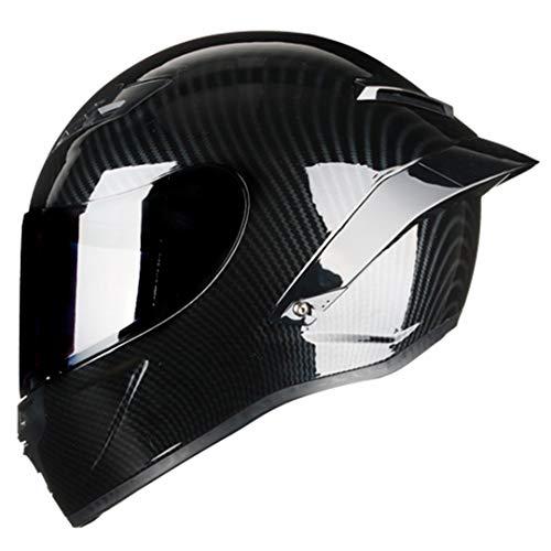 MetHlonsy Casco de motocicleta de cara completa con aprobación DOT, pintura de...
