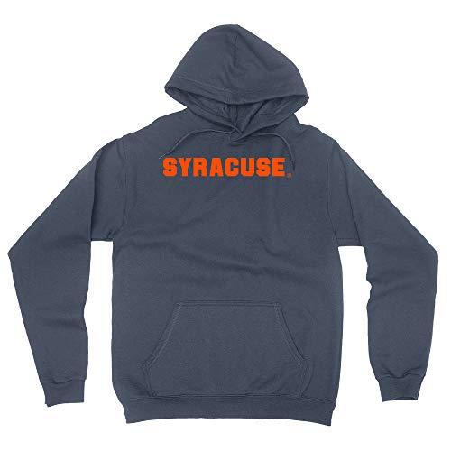 Official NCAA Syracuse University Men's/Women's Boyfriend Hoodie PPSYR03 - Navy, 3XL