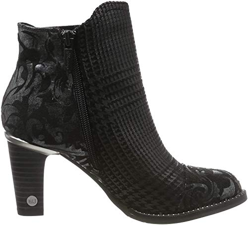MUSTANG Damen 1335-503-921 Chelsea Boots, Schwarz (Schwarz/Silber 921), 38 EU
