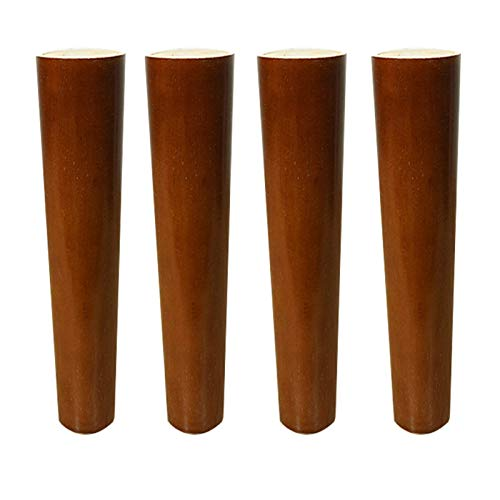 Wood Furniture Parts Sofa Legs, Oak Wooden Furniture Legs, Replacement Feet, with Brass Feet, Mounting Plate and Screws, for Sofa Bed Cabinet, Furniture Replacement Parts(A8Cm/3.1In)