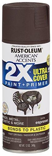 Rust-Oleum 327919-6 PK American Accents Spray Paint, 6 Pack, Satin Espresso