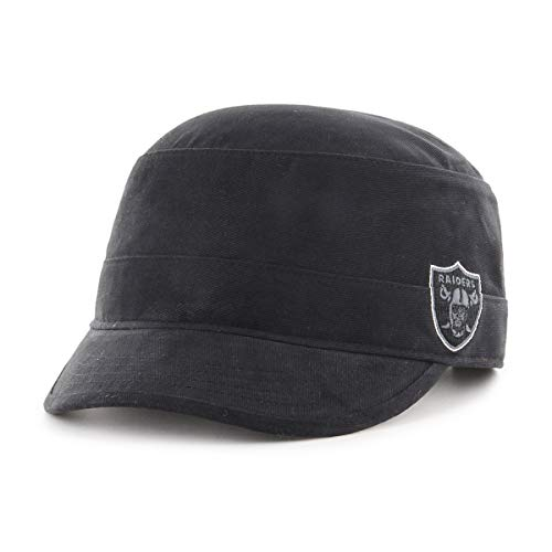 OTS NFL Oakland Raiders Women's Shipmate Cadet Military-Style Adjustable Hat, Black, Women's