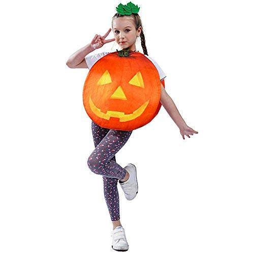 WDRSY Disfraz de túnica de Calabaza Linda para niño Unisex Disfraces Disfraces de Fiesta de Halloween para Disfraz de Calabaza-UNA_Un tamaño