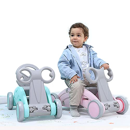 Orgrimmar Toy List 2-In-1 Baby Rocking Horse Balance Car, Playground Toy, Yo-Yo Cart, for Babies 10-24 Months Old (Mint-blue)