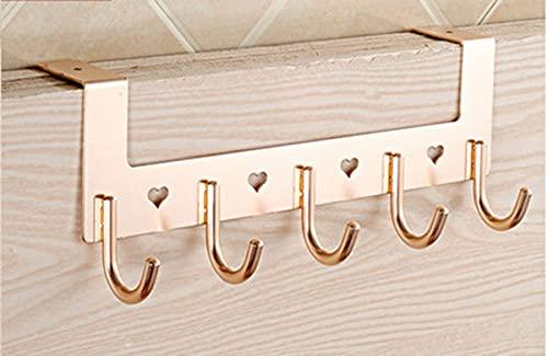 Newberry Ganchos (2 unidades) Multifuncional, gancho para ropa, gancho adhesivo, gancho para toallas, adecuado para baño, dormitorio, etc. (5 ganchos de corazón de amor*2)