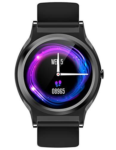 Reloj inteligente con pantalla táctil completa, monitor de ritmo cardíaco, seguimiento de actividad, contador de pasos, contador de calorías, cronómetro, presión arterial para hombres y mujeres