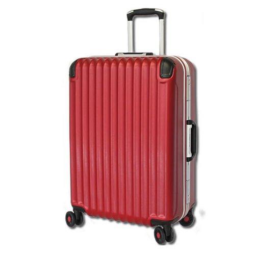 [BB-Monsters ビービーモンスターズ] スーツケース 大型 中型 小型 TSAロック搭載 旅行かばん キャリーバッグ 深溝式フレーム Amphisbaena (大型LMサイズ, レッド)