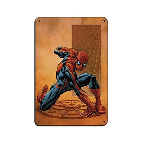 Affiche du film Superhero Tom Hollamd Peter Benjamin Parker Spider Man 041 vintage en métal pour pub, club, café, bar, maison, décoration murale rétro 20 × 30 cm