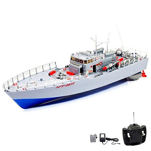 HSP Himoto Missile - RC ferngesteuertes Boot, Schiff Kriegsschiff, Küstenwache Modell, Ready-to-Run, Komplett-Set