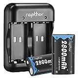 Rapthor Paquete de baterías Xbox One 2x2800mAh Batería recargable y cargador, 3H Carga rápida para Xbox One / Xbox One S / Xbox One Controlador inalámbrico Xbox One Elite (batería y cargador, negro)