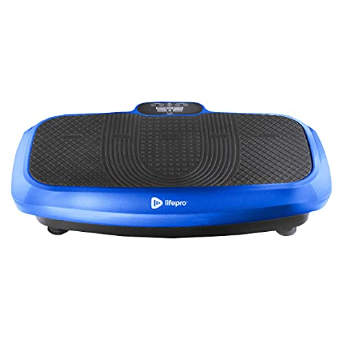 LifePro 3D Vibration Plate Exercise Machine - Dual Motor Oscillation, Pulsation 3D Motion Vibration Platform - Full Whole Body Vibration Machine for Home Fitness & Weight Loss. (Blue)