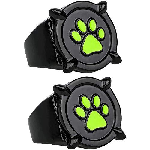 2 uds anillo milagroso de gato negro para niños adultos Cosplay, anillo de mariquita Anime Cosplay anillo de dedo para niñas recuerdo hermoso regalo hecho (5)
