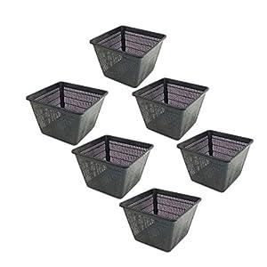 Pisces Pond Square Planting Basket 28 x 28 x 18cm -6 Pack