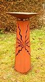 Gartendeko Stehle Rost 125cm konisch mit Schale
