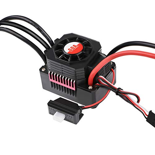 Crazeopny-UK 60A Brushless ESC, Waterproof RC Car Electronic Speed Controller for 1/10 RC Car 2S-3S LiPo