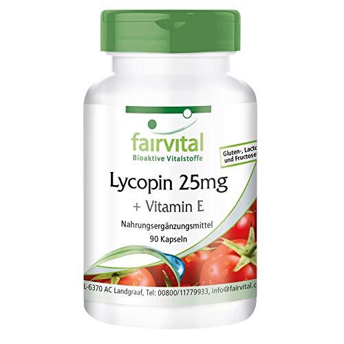 Lycopene Capsules with Vitamin E - 25mg lycopene - Vegan - 90 Capsules - microencapsulated