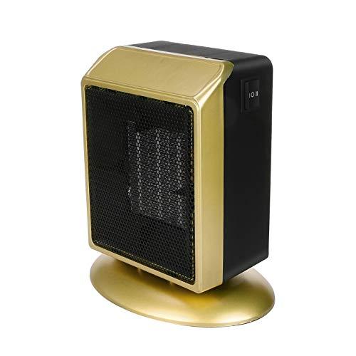 Calentador de Espacio Calentadores eléctricos Calentador Personal portátil para la Oficina en casa Calentador eléctrico Escritorio para Oficina de Oficina de Oficina (Color : Negro)