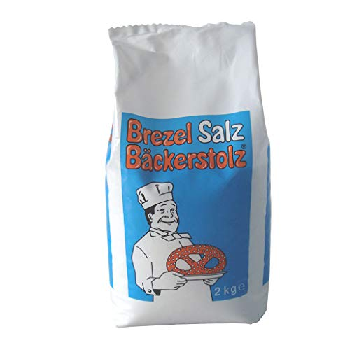 Brezel-Salz Hagelsalz 2 kg, 1 Beutel / Karton / Vegan / Lactosefrei / Glutenfrei