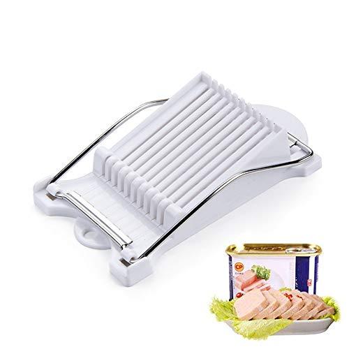 Hanguang Luncheon Meat Slicer, Kaas Slicer, Ei Slicer, Keuken Soft Food Cutter met 10 RVS Snijdraden voor Ingeblikt vlees Kaas Sushi Ham Gekookt Ei Geschild Fruit