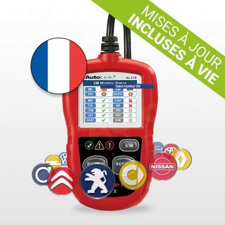professionnel comparateur Cas de diagnostic de voiture AutelAutoLink AL319 – Outil de diagnostic multimarque – Lire… choix
