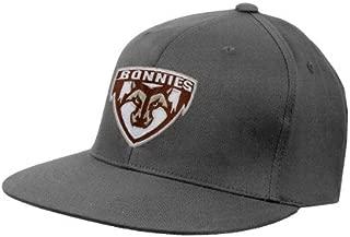 St Bonaventure Charcoal Flexfit Flat Bill Pro Style Hat 'Bonnies Shield'
