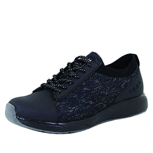 TRAQ BY ALEGRIA Qest Womens Smart Walking Shoe Black 12 M US
