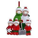 Hunpta Winter Families 2020 DIY - Adorno de bendición con nombre personalizado, decoración navideña, árbol de Navidad, colgante con lazo