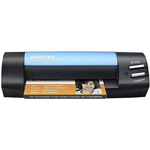 Plustek MobileOffice S602 Visitenkarten-Scanner 1200 x 1200DPI A6 schwarz, blau – (104,9 x 500 mm, 1200 x 1200 DPI, 48 bit, 24/48 bit, 8/16 bit, 1 bit)