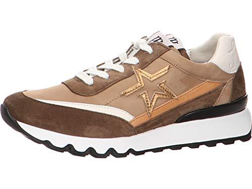 Paul Green Damen Leder-Sneaker Beige Leder-Mix 39