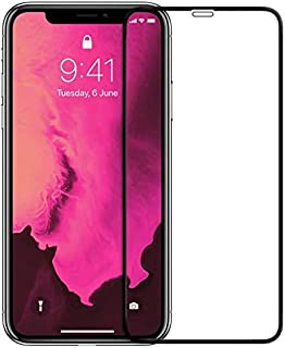 iPhone XS Max Screen Protector, [3D Full Coverage] Tempered Glass Screen Protector Film for Apple iPhone XS Max 6.5-Inch (...