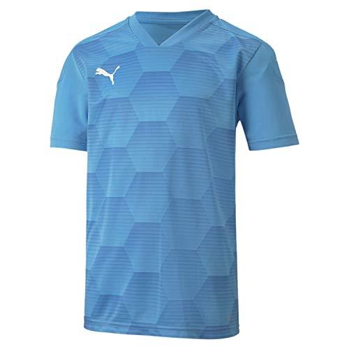 PUMA teamFINAL 21 Graphic Jersey Jr Camiseta, Infantil, Team Light Blue Yonder-Balón de fútbol, 176