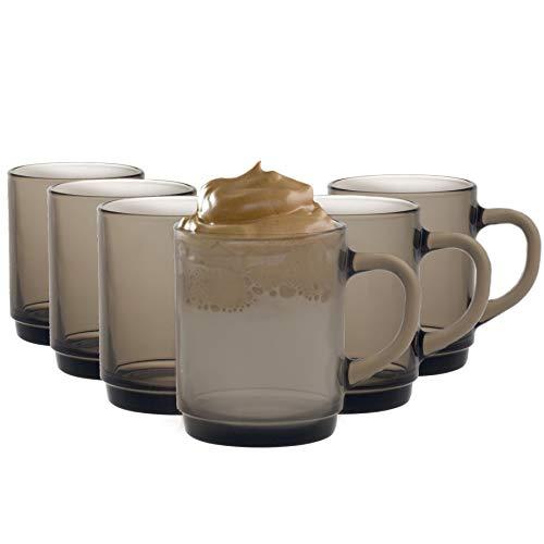 Duralex Versailles - Juego de Tazas para café o té - Ahumado...
